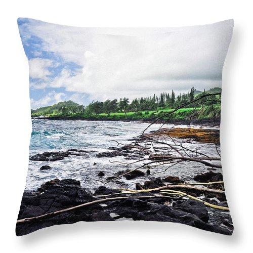 Coastline Throw Pillow featuring the photograph Eastern Shore Of Maui by Blake Burton
