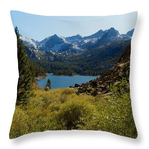 Eastern Sierras Throw Pillow featuring the photograph Eastern Sierras 22 by Richard J Cassato