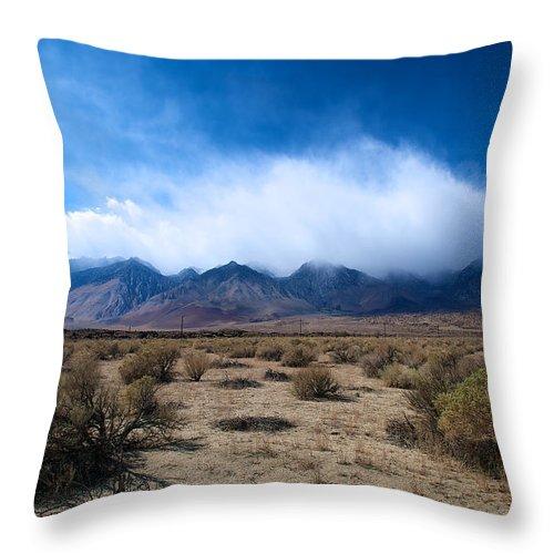 Eastern Sierras Throw Pillow featuring the photograph Eastern Sierras 3 by Richard J Cassato