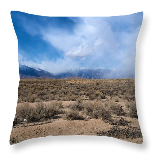 Eastern Sierras Throw Pillow featuring the photograph Eastern Sierras 8 by Richard J Cassato