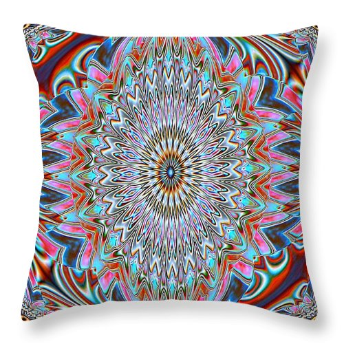 Kaleidoscopes Throw Pillow featuring the photograph Easy Street by G Berry
