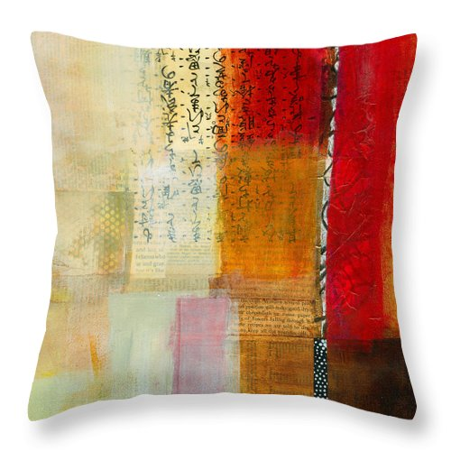 Acrylic Throw Pillow featuring the painting Edge Location 8 by Jane Davies