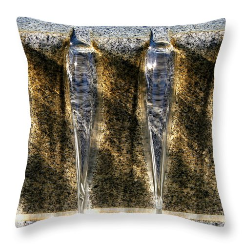 Water Throw Pillow featuring the photograph Edge Of A Fountain by Robert Woodward