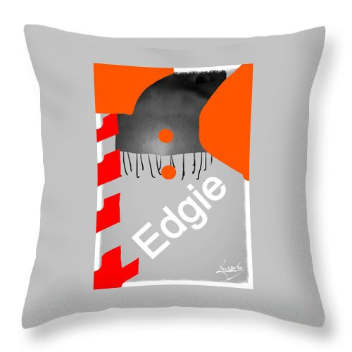 Digital Throw Pillow featuring the photograph Edgie#3 by Sean Roache