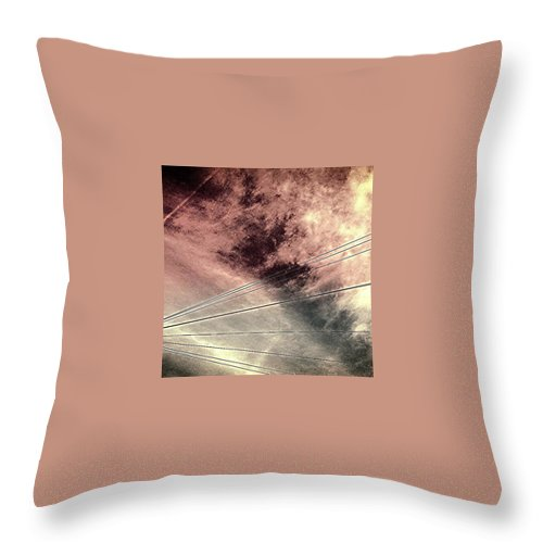 Beautiful Throw Pillow featuring the photograph Dramatic Sky 3 by J Love