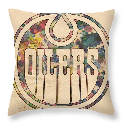 Edmonton Oilers Hockey Poster Throw Pillow for Sale by Florian Rodarte