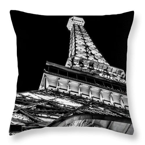 Eiffel Tower Throw Pillow featuring the photograph Industrial Romance by Az Jackson