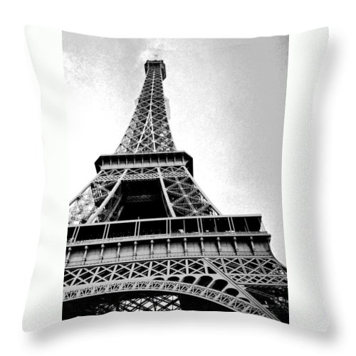 Paris Throw Pillow featuring the photograph Eiffel Tower Up Close 3 by Bobby Uzdavines