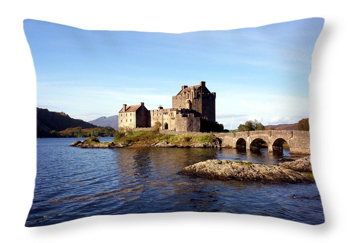 Clan Macrae Throw Pillow featuring the photograph Eilean Donan Castle Kintail Scotland by Rodger Insh