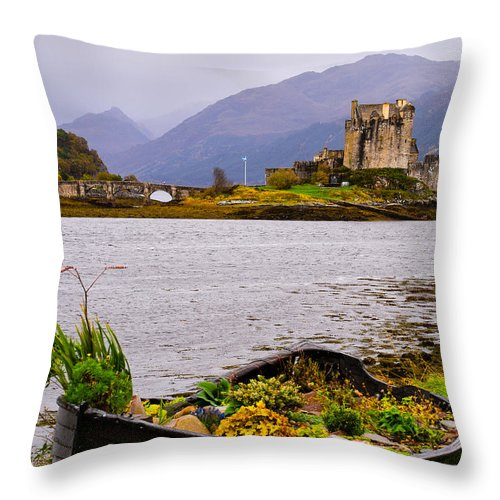 Scotland Throw Pillow featuring the photograph Eilean Donan Castle 1 by Mark Llewellyn