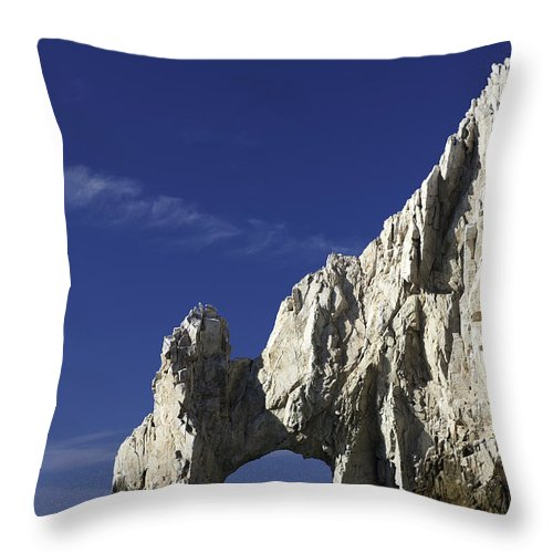 Los Cabos Throw Pillow featuring the photograph El Arco by Sebastian Musial