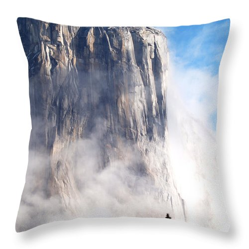 Yosemite Throw Pillow featuring the photograph El Capitan by Bill Gallagher