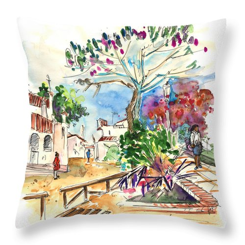Travel Throw Pillow featuring the painting El Rocio 07 by Miki De Goodaboom