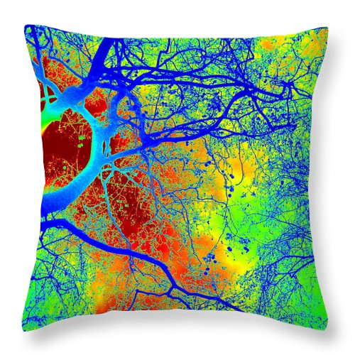 Trees Throw Pillow featuring the photograph Electric by Cathy Jacobs