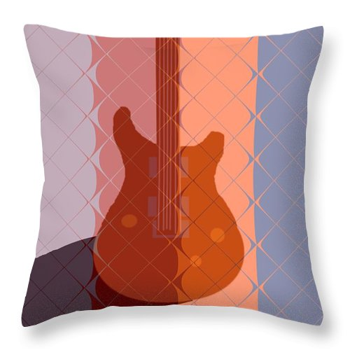 Guitar Throw Pillow featuring the painting Electric Guitar Solo by Pharris Art