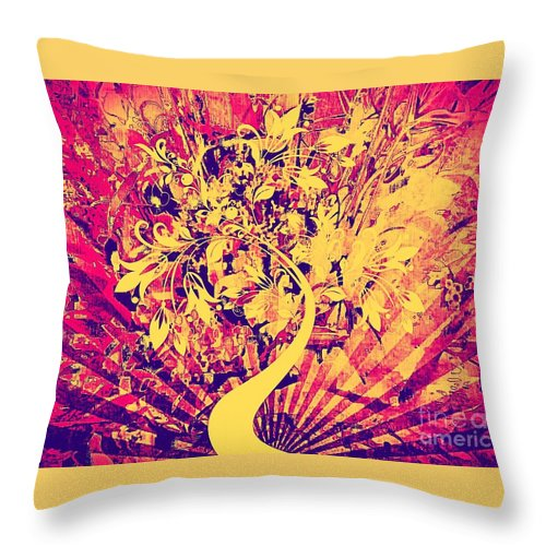 Paintings Throw Pillow featuring the painting Electric Highway by Cindy McClung