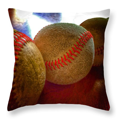 Photo Stream Throw Pillow featuring the photograph Electric Seams by Bill Owen