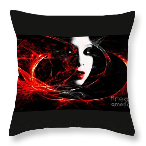 Black Throw Pillow featuring the photograph Electric Spark by Jessica Shelton