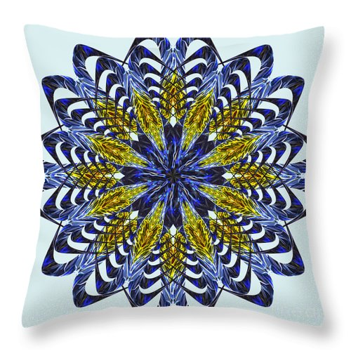 Color Throw Pillow featuring the digital art Electric by Wendy Wilton