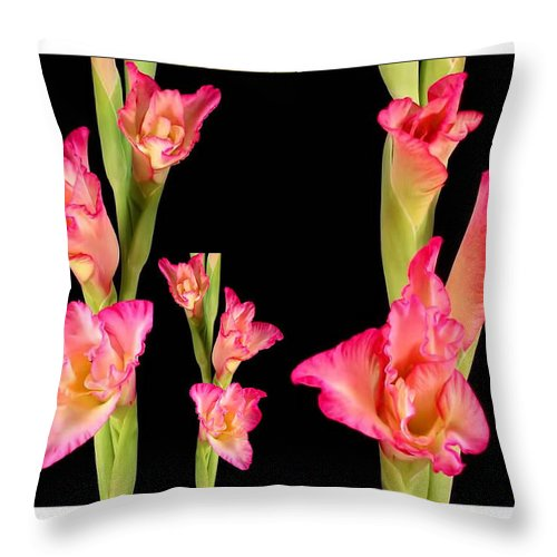 Sensual Throw Pillow featuring the mixed media Elegant Sensual Romantic Flower Bouquet For Valentine's Day by Navin Joshi