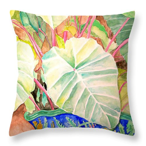 Pastels Throw Pillow featuring the painting Elephant Ears by Marley Ungaro