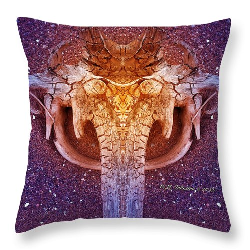 Driftwood Throw Pillow featuring the photograph Elephunk by WB Johnston