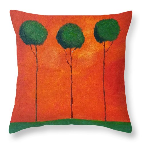 Landscape Throw Pillow featuring the painting Elipsis by Venus