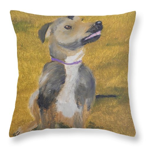 Impressionist Throw Pillow featuring the painting Ella by Pamela Meredith