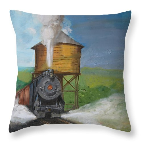 Pennsylvania Throw Pillow featuring the painting Elmira Branch by Christopher Jenkins