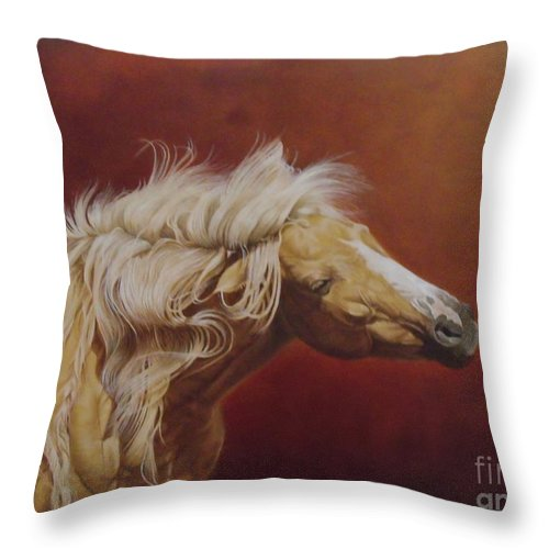 Horse Throw Pillow featuring the painting Elsa's Shake by Pauline Sharp