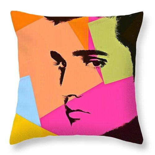 Elvis Presley Pop Art Throw Pillow featuring the digital art Elvis Presley Pop Art by Dan Sproul