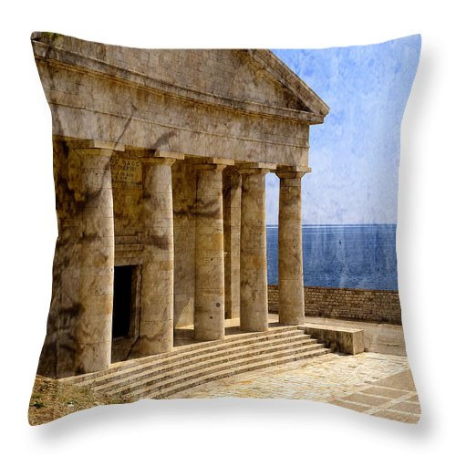 Corfu Throw Pillow featuring the photograph Embracing Eternity by Brenda Kean
