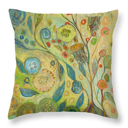 Underwater Throw Pillow featuring the painting Embracing The Journey by Jennifer Lommers