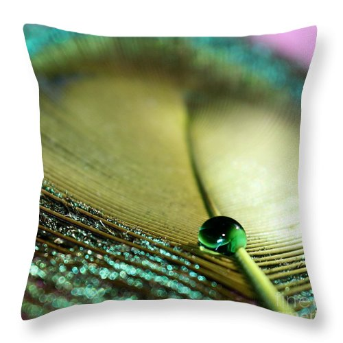 Feather Throw Pillow featuring the photograph Emerald City by Krissy Katsimbras
