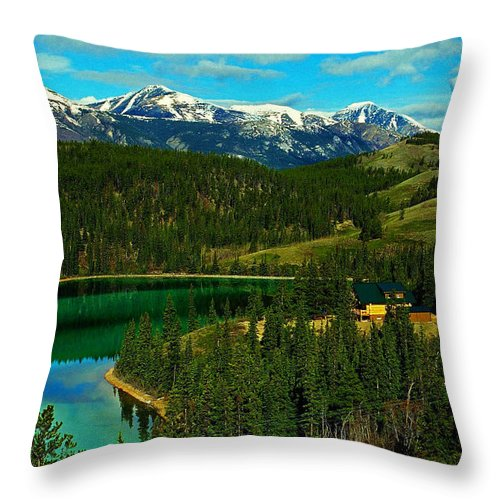 Emerald Throw Pillow featuring the photograph Emerald Lake - Yukon by Juergen Weiss