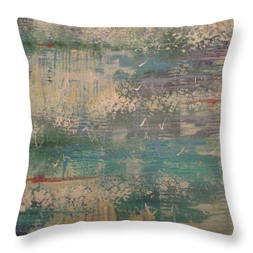 Throw Pillow featuring the painting Emerging by Jacqui Hawk