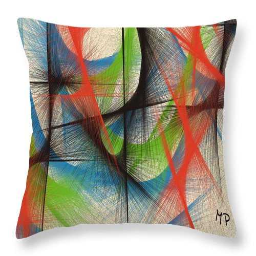 Rising Throw Pillow featuring the mixed media Emerging by Marian Palucci-Lonzetta