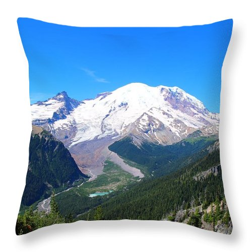 Emmons Glacier Throw Pillow featuring the photograph Emmons Glacier by Lynn Hopwood