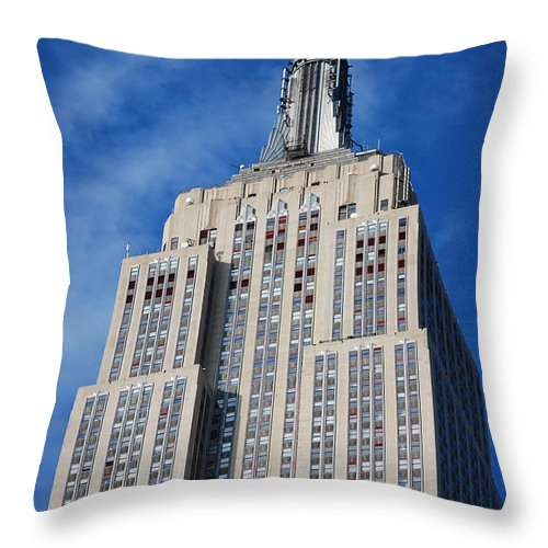 Usa Throw Pillow featuring the photograph Empire State Building - Nyc by Carlos Alkmin