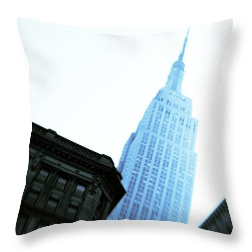 Empire State Building Throw Pillow featuring the photograph Empire State Building by Dave Bowman