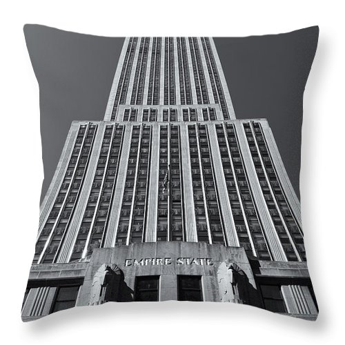 Clarence Holmes Throw Pillow featuring the photograph Empire State Building Rising II by Clarence Holmes