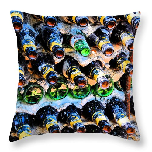Bottle Throw Pillow featuring the photograph Empty Art by Jost Houk