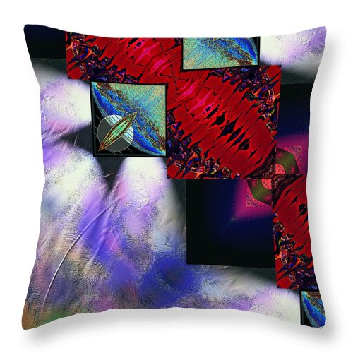 Empty Throw Pillow featuring the digital art Empty Hearted Sky by Michael Damiani