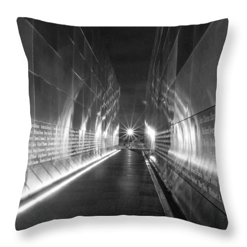 Empty Sky Throw Pillow featuring the photograph Empty Sky Memorial by GeeLeesa Productions