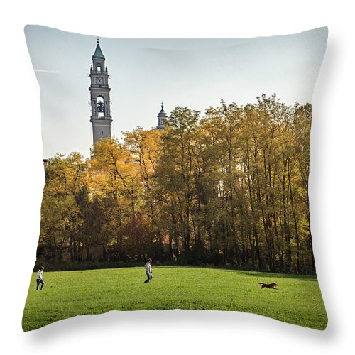 Park Throw Pillow featuring the photograph Empty Spaces by Alfio Finocchiaro