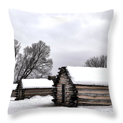 Valley Throw Pillow featuring the photograph Encampment by Olivier Le Queinec