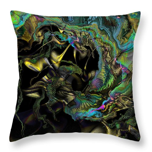 Enchant Throw Pillow featuring the digital art Enchant by Kiki Art