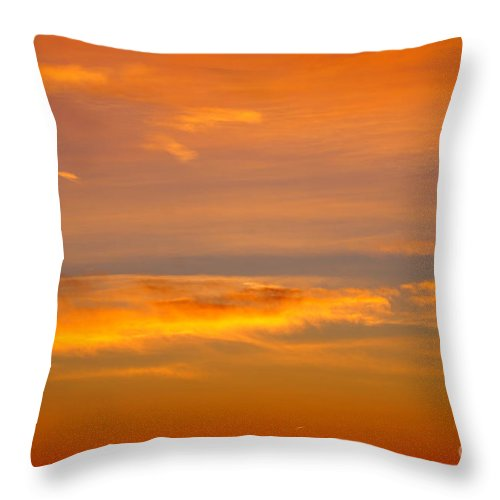 Sunset Throw Pillow featuring the photograph End Of A Great Day by Jeffery L Bowers