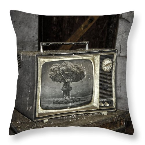 Tv Throw Pillow featuring the photograph End Of The Show by The Artist Project