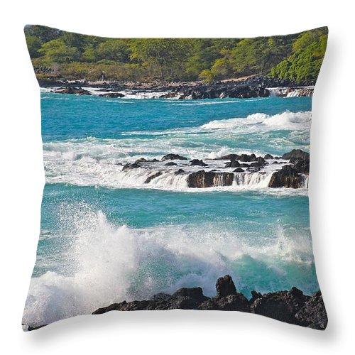 End Of The World Throw Pillow featuring the photograph End Of The World by Kimberly Reeves